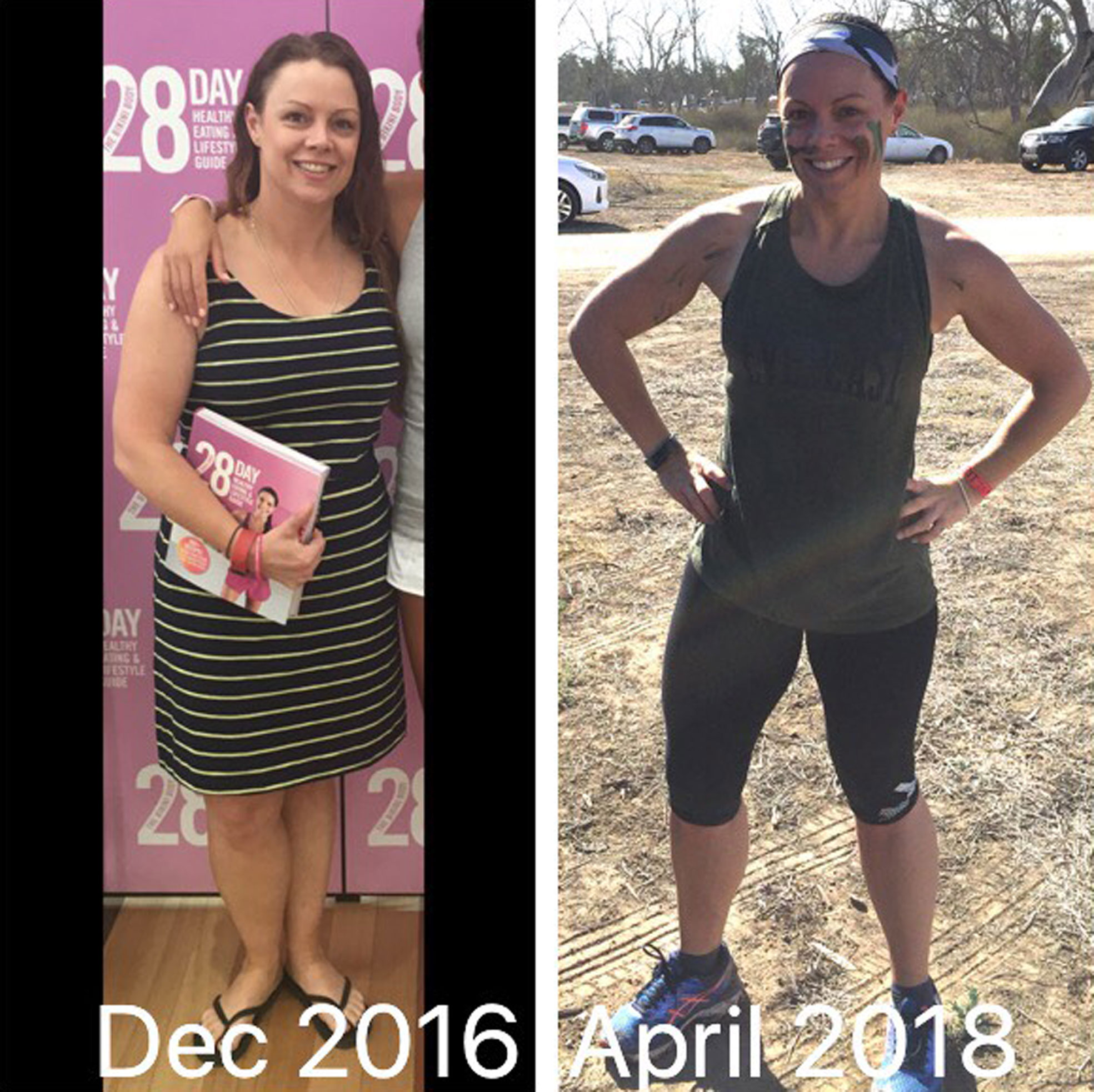 Ellesha Treadwell before and after picture capturing our her weight loss